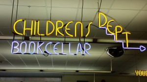Abington Library's Children's Department Sign
